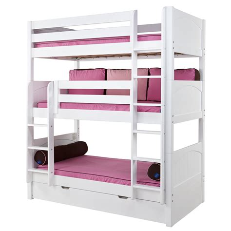 Maxtrix Bunk Beds Maxtrix Holy Bunk Bed In White With Panel Bed Ends 850