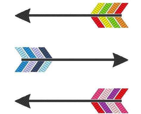 embroidery design arrow arrows and single arrow embroidery 2 designs in multiple