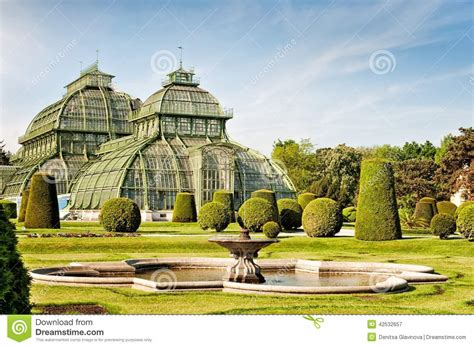 palme österreich das palmen haus in schoenbrunn palast in wien stockfoto