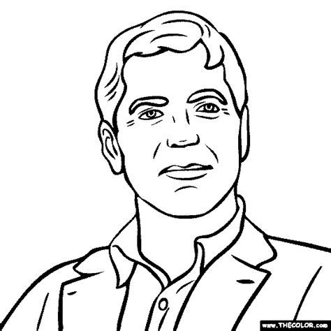 George W Bush Coloring Page by George Bush Free Colouring Pages