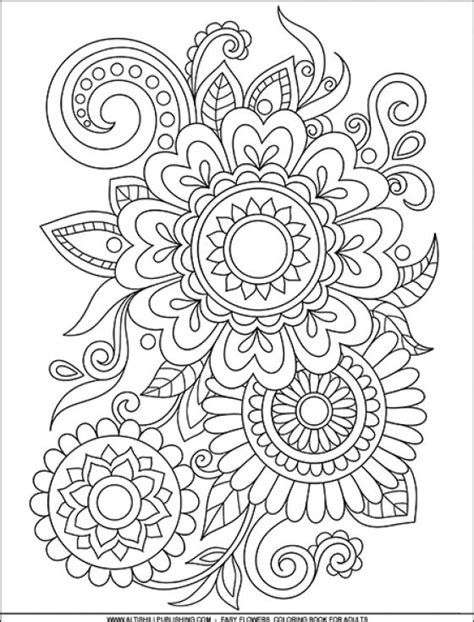 Coloring Book For Adults Flowers - colouring mermaid