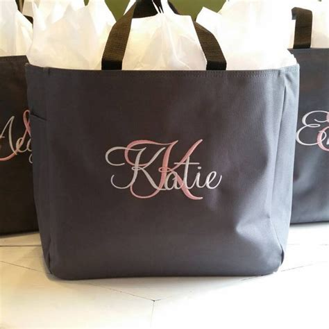 bridesmaid gift personalized tote bag wedding party