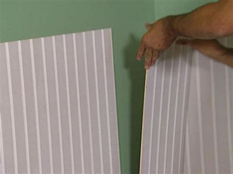 Lowes Wainscoting Trim How To Install Beadboard Wainscoting How Tos Diy