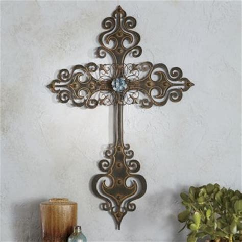 country crosses home decor metal cross wall art from through the country door 703894