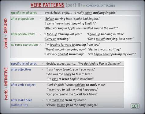 english grammar pattern 1 14 best esl gerund infinitive images on pinterest