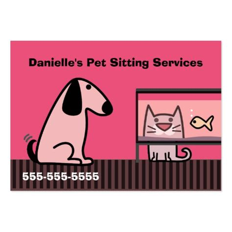 pet sitter business cards templates pet sitter s business large business cards pack of