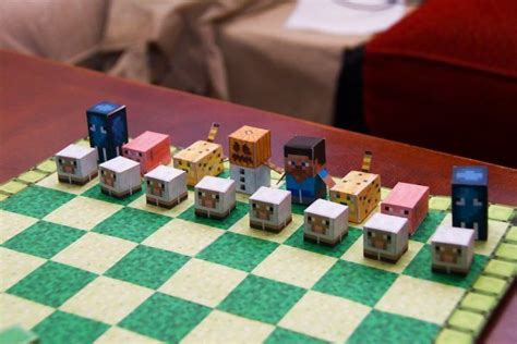 Chess Papercraft - minecraft chess set images minecraft