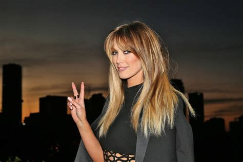 hairstyles on the voice delta goodrem long straight cut with bangs hair lookbook