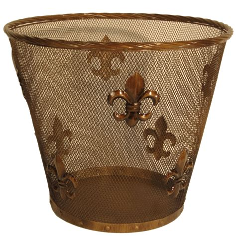 fleur de lis home decor bathroom fleur de lis waste basket