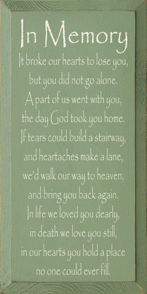 In Memory by Sweet Poem In Memory Meaning