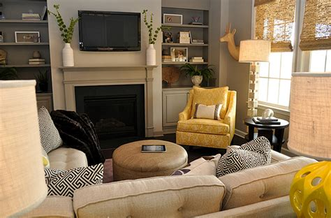 Yellow Chairs For Living Room Yellow And Gray Living Room Transitional Living Room And Company