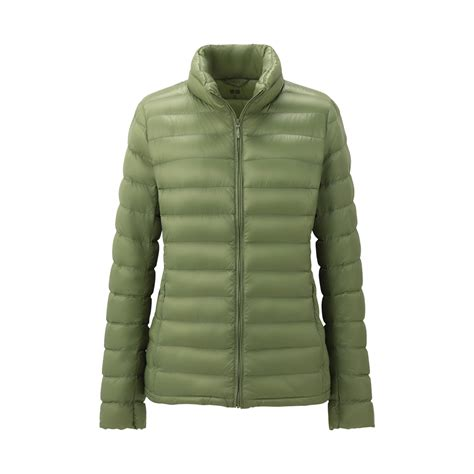 Hoodie Jaket Sweater Greenlight uniqlo premium ultra light jacket in green lyst