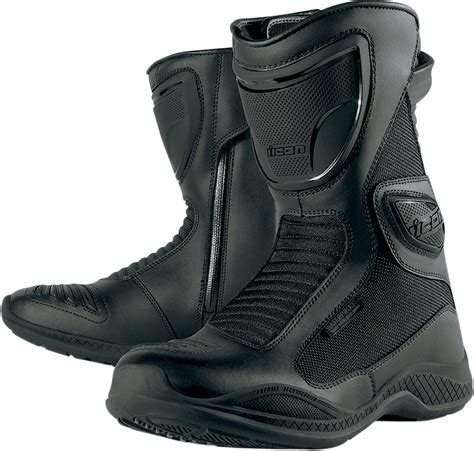 waterproof motorbike boots icon waterproof motorcycle boot black