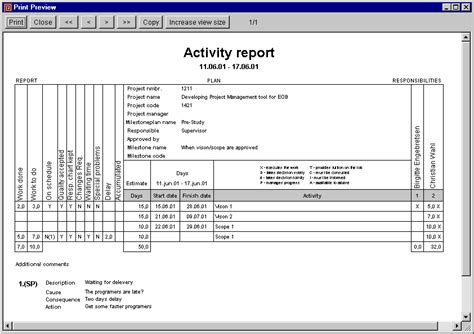 work done report sle goal director help reporting and controlling