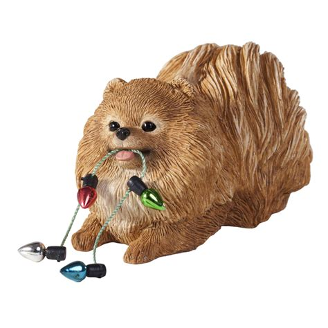 pomeranian with lights christmas ornament with same day