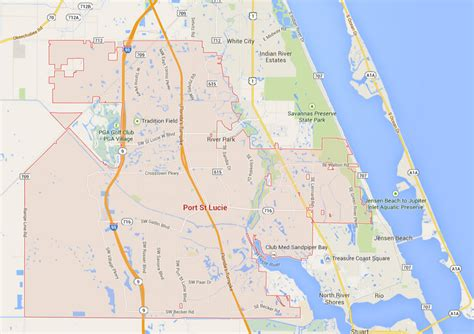map of port st florida port st florida map