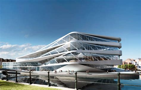 future building designs unstudio unveils green roofed library of the future for
