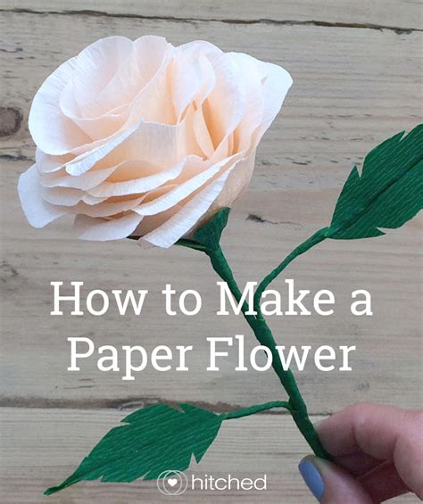 How To Make Paper Flowers For A Wedding - how to make paper flowers for your wedding hitched co uk