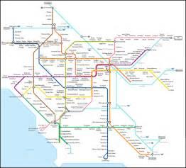 Los Angeles Transit Map by Conceptual Maps Numan Parada The Transit Coalition