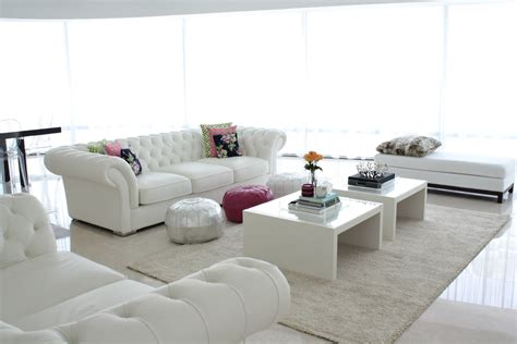 sofa blanco  ideas  sala de estar hoy lowcost