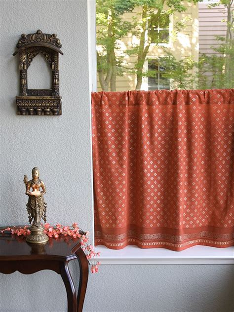 Rust Colored Kitchen Curtains 17 Best Images About Print Dreams Of India On Pillows Chocolate Brown And