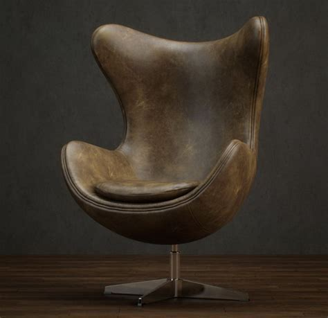 Classic style of leather egg chair 3d model 3dsmax files