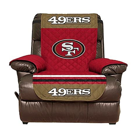 49ers recliner nfl san francisco 49ers recliner cover bed bath beyond