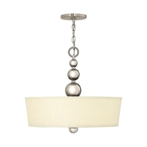 Elstead Zelda Polished Nickel Ceiling Light