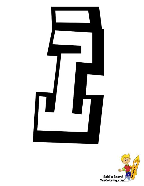 graffiti i free coloring pages of the letter i in graffiti