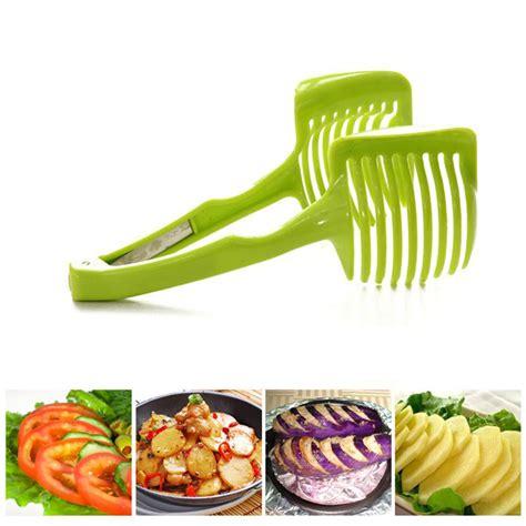 Plastic Tomato Slicer Pemotong Tomat 1pc tomato slicer plastic fruits cutter tool slicer tomato potato shreadders