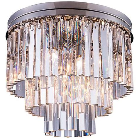 sydney 20 quot w polished nickel clear ceiling light