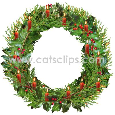 funny animated christmas wreaths animated gifs from cat s
