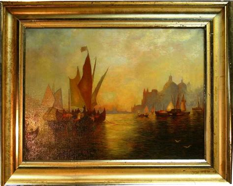 antique paintings for sale 20th c american painting of a venice sunset with