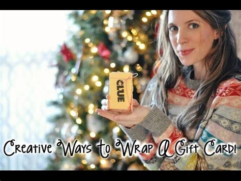 Creative Ideas For Presenting Gift Cards - diy christmas gifts creative gift giving presentation ideas part one customized
