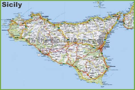 map of sicily italy image gallery large map of sicily