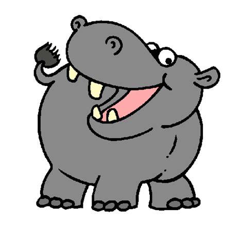 Imagenes Infantiles Hipopotamo | dibujo de hipop 243 tamo pintado por palmdan en dibujos net el
