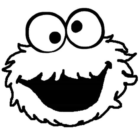 monster face cookie coloring page coloring pages