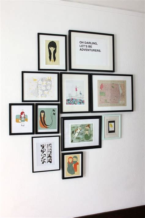 things to hang pictures some and hints for hanging groupings on the wall