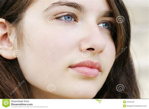 youngest looking women hopeful young woman looking away stock image image of