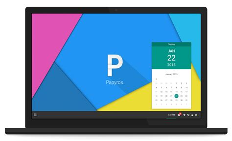 material pc material design linux papyros coming soon