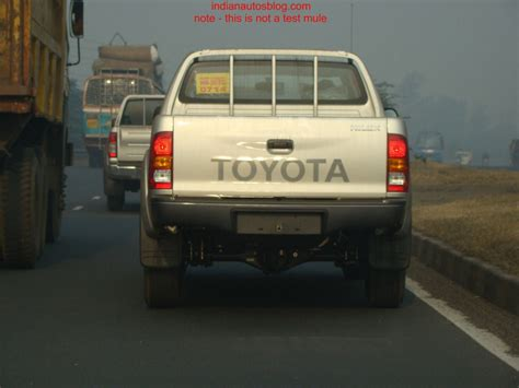 Toyota Trucks In India Spotted Toyota Hilux In India
