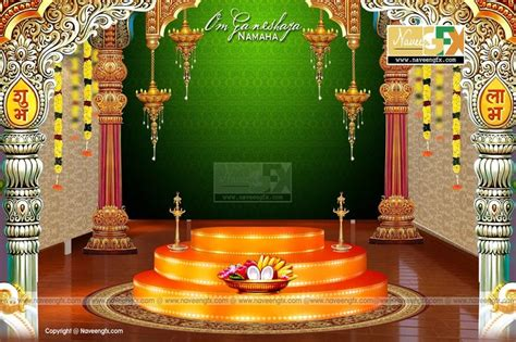 stage backdrop design vector stage backdrop ideas for vinayaka chaturthi and durga