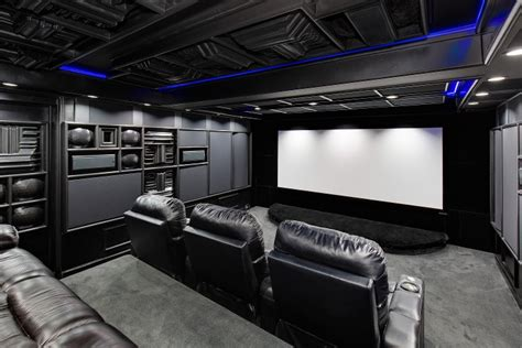 basement home theater black   boring acoustic