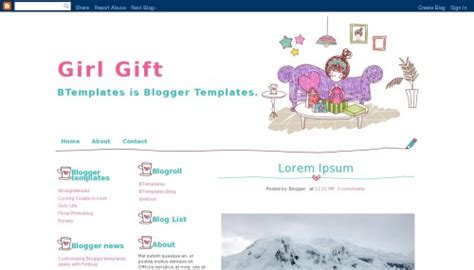 blogger gifts girl gift blogger template btemplates