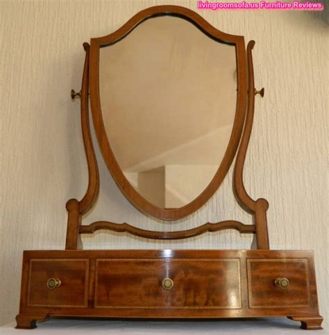 Antique Bedroom Vanity With Mirror by Pretty Antique Mirror Vanity Burl Walnut 6 Drawer With At