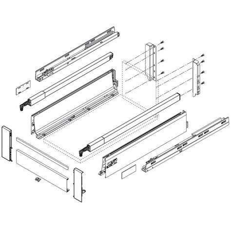 blum drawer glide sizes blum tandembox drawer system 24 quot top gallery rail left