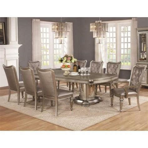 stunning exclusive  piece dining room set  leaf