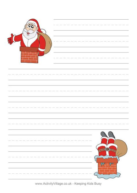 printable letter to santa paper 8 best images of printable santa letter paper free