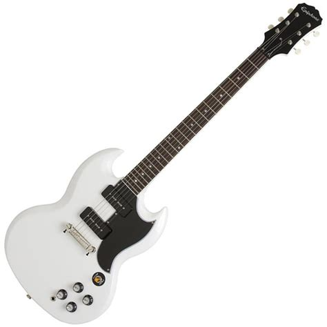 Gitar Epiphone Sg 60 epiphone 1961 sg special p 90 guitar white with free stand at gear4music