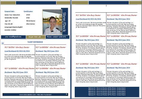 boat cleaner resume boat stewardess resume